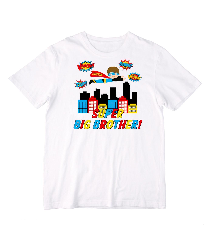 Personalized Pop Art Superhero Super Big Brother Shirt or