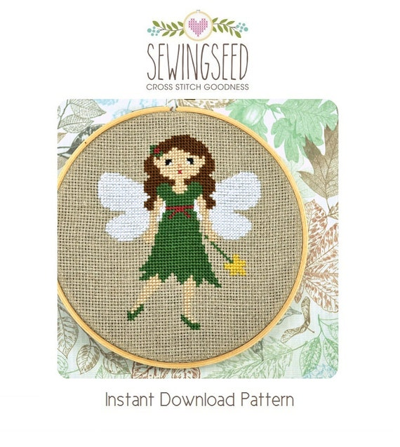 Woodland Fairy Cross Stitch Pattern Instant Download
