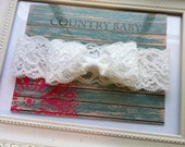 Lace Bow Headband...Newborn Headband...White Lace Headband...Bow Headband...Baby Girl Headband