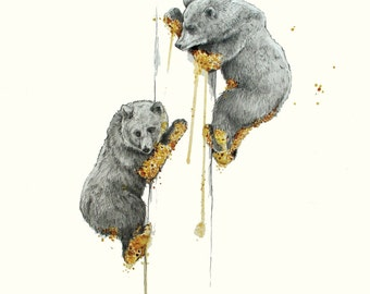 Honey Dipped- limited edition bear print