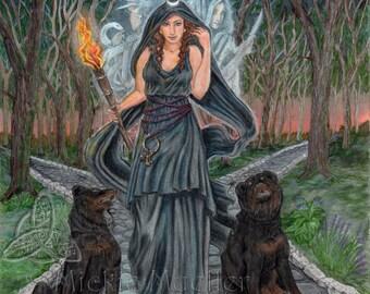 Goddess Hecate Art Print, Open Edition