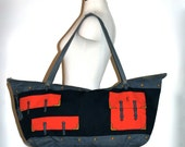 ROBERTA DI CAMERINO Vintage Handbag Extra Large Travel Duffle - Authentic -