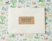 Custom Printed Return Address Labels - Design #09, Elegant Text Address Labels, Rustic Wedding