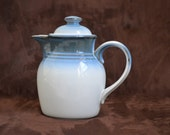 Noritake Decanter -Sorcerer Blue Stoneware Coffee/ Tea Decanter- -Gifts for Tea Drinkers - 1978-1991