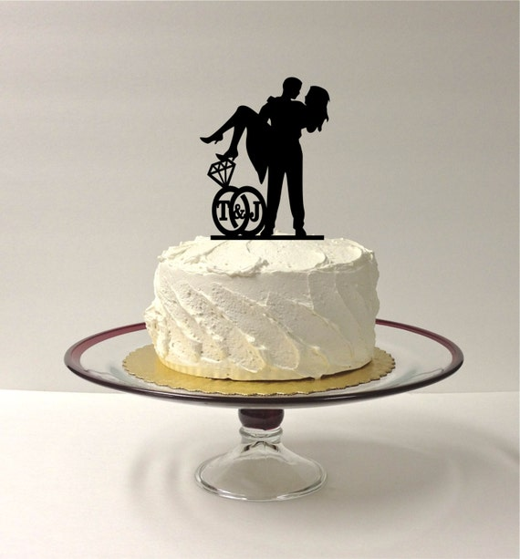 PERSONALIZED Cute Wedding Cake Topper With by ...