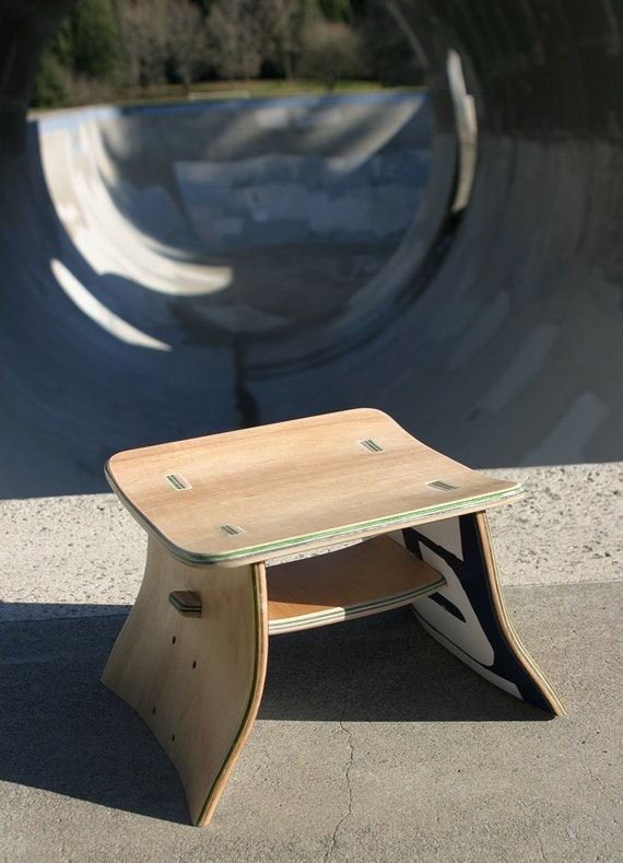 Skateboard Stool By Boardgames On Etsy
