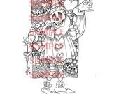 Valentine Macabre  Digital Stamp