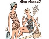 RARE 1950s Womens Romper Sunsuit Playsuit Pattern Australian Home Journal 5426 Straight or Pouffy Leg Bust 34 inches UNUSED Factory Folded