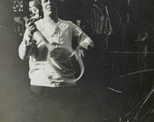 1930's Photo - Woman Playing with a Tennis Racket