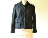 Women's Tweed Jacket Black Size Small