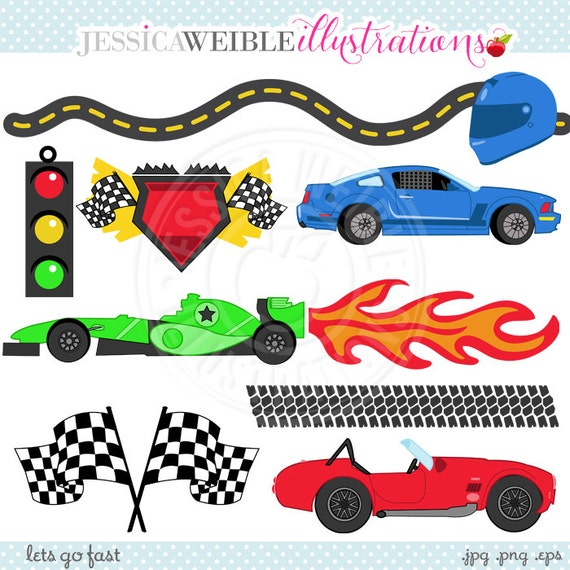 lets go fast cute digital clipart commercial use ok racing clipart race graphics checkered. Black Bedroom Furniture Sets. Home Design Ideas