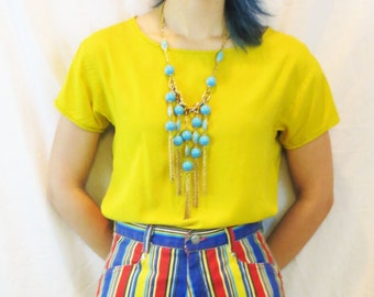 90's high waist colorful shorts 28 small / medium
