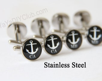 Anchor Wedding gift, Personalized Cufflinks for groomsman Nautical wedding favor, nautical wedding gift, nautical gifts, nautical cuff links
