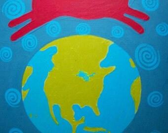 "Leap, art  print 8.5"" x 11"" copyright Hillary Vermont"