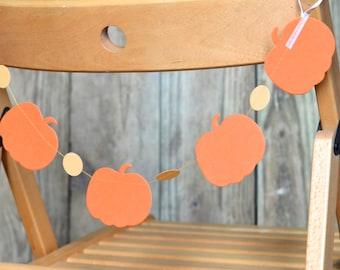 Pumpkin and Circles Chair Garland