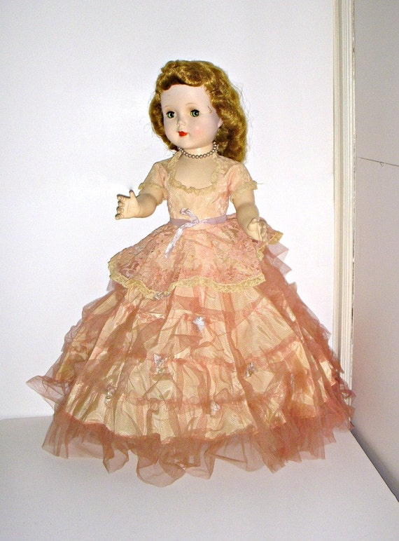 American Character Doll - 1950s - Sweet Sue - Original Gown - Walking Doll - Attic Find - Christmas Gift