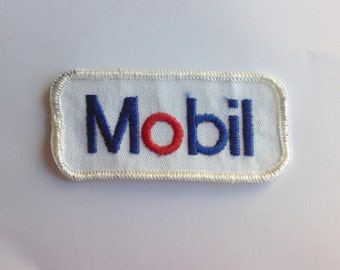 Mobil Gas Service Station Sewing Vintage Patch Retro Authentic Collectible