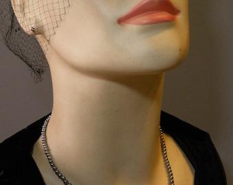 Vintage Grey Pearl Necklace