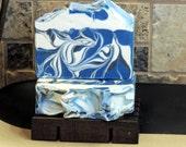 TEMPEST - Nag Champa Handmade Cold Process Soap with Jojoba, Hemp, Argan, Wheatgerm,  Silk, Shea, Cocoa and Mango Butters