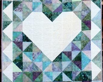 Big Heart baby quilt #2
