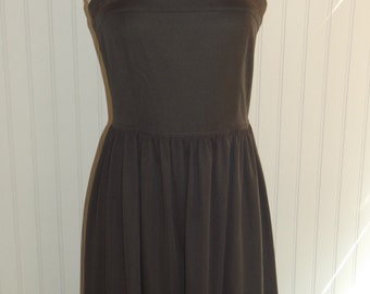 1970s Polyester Sundress, fitted waist, Size small or Medium,  Rockabilly, #42369