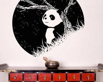 Vinyl Wall Decal Sticker Panda at Night OSAA1552s