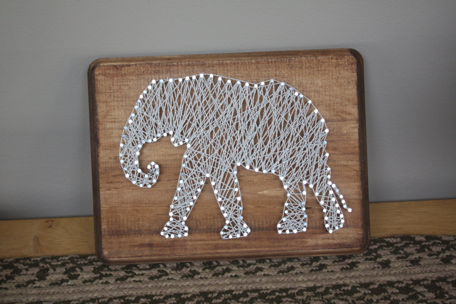 Rustic Elephant String Art