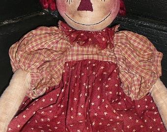 "Primitive ""Polly Anne"" Raggedy Doll Pattern"