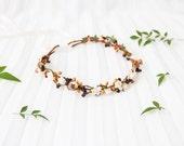 rustic woodland bird hair wreath / forest flower crown, spring headpiece, vintage, quirky, whimsical nature, bridal, wedding - 'Henrietta'