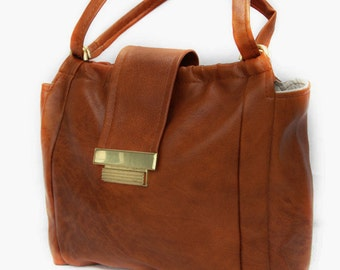 Tabby, French Vintage, 1970s Tan Handbag from Paris