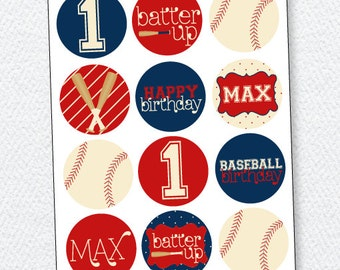 Baseball Birthday PRINTABLE Party Circles by Love The Day