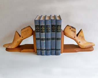 Vintage Shoe Form Bookends, Industrial Factory, Industrial Chic Decor