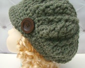Unisex Newsboy Hat Photography Prop etsy Knit Baby Hat Green childs hat