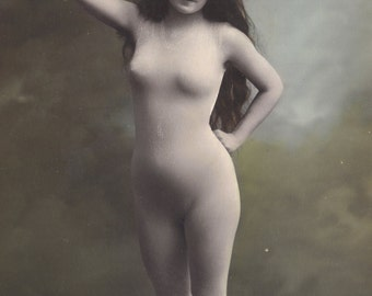 Risque French Postcard, circa 1905, by ELD