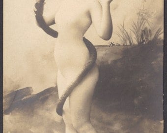 Eve and the Snake, circa 1900