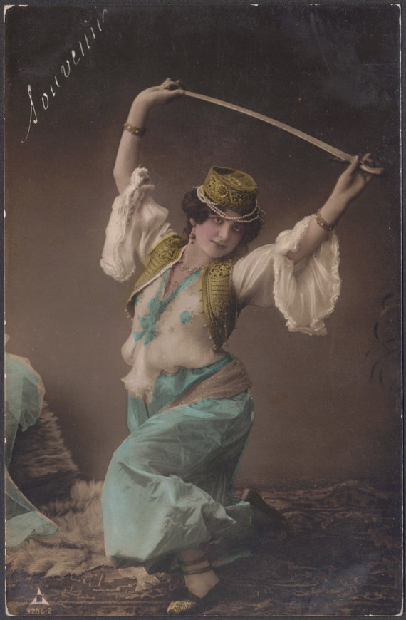 Germaine Rose, as Judith, does the Sword Dance, circa 1905