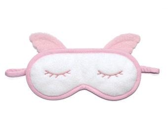 Angel Sleep Mask, Pillow sleep mask, Heaven wings pink eye mask, Wedding party favor, Bridesmaid gift, Sleeping eyemask, Gift for girlfriend