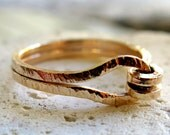 Knotted Ring - Stacking Ring - Gold Filled Ring - Stackable Handmade Ring - Textured Ring - Venexia Jewelry