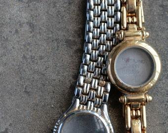 Wrist watch bracelets with empty cases -- set of 2 -- D7