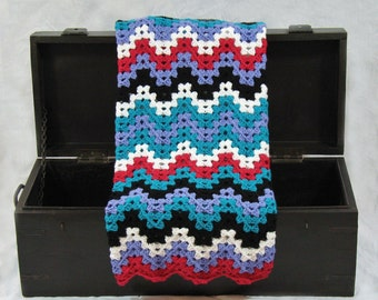 On Sale READY TO SHIP Funky Chevron Crochet Baby Blanket, Perfect for Baby Shower Gifts, Car Seat Covers, Crib Blankets, Tummy Time