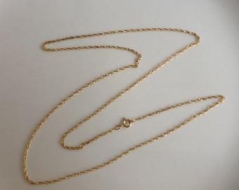 "24""  Gold Rope Chain 1/20   14K GF"