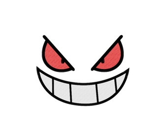 PES FILES: Gengar Face - Embroidery Machine Design