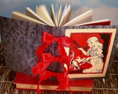 Snow-White Writing Journal w/Red Bow Spine and Antique Fairy Tale Illustration