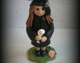 Polymer Clay Girl Graduate