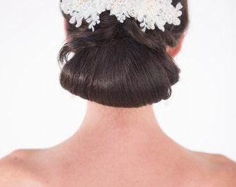 Wedding Hair Accessory, Lace Bridal Hair Comb, Lace Headpiece, Bridal Hair Comb