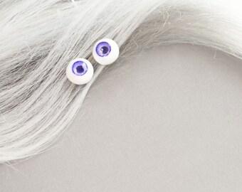 Bright Purple Eyeball Bobby Pins // 50% OFF SALE