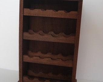 Miniature wine bottle rack