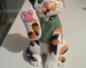 Calico  Original OOAK Cat Polymer Clay Figurine