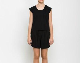 Black T Shirt for women, women sheer blouse summer top, Airy Summer Shirt loose fit