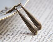 Steampunk Earrings - Long Antique Brass Earrings - Hot Air Balloon Earrings - Filigree  Earrings - Everyday Earrings - Art Deco Earrings
